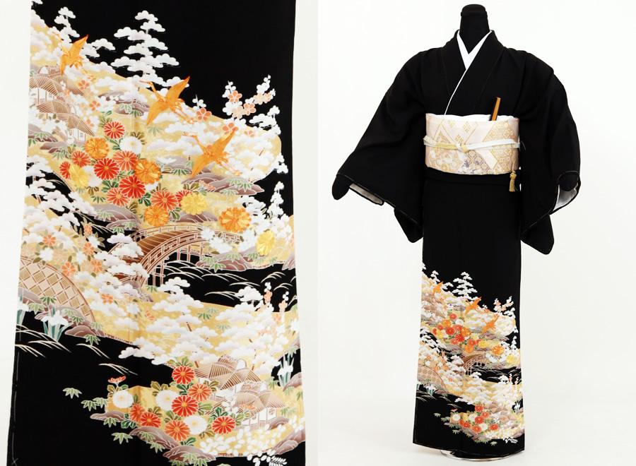 4.鶴刺繍柄留袖セット