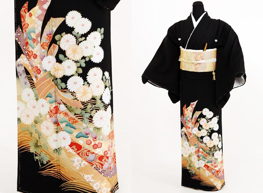 3.菊に熨斗(のし)柄留袖セット